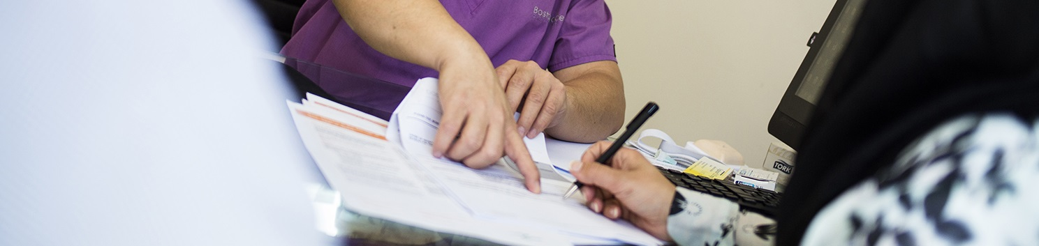 Signing fertility treatment consent forms